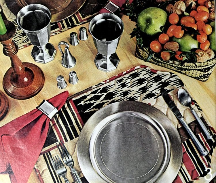 Vintage table setting ideas from the 70s - 1975 (22)