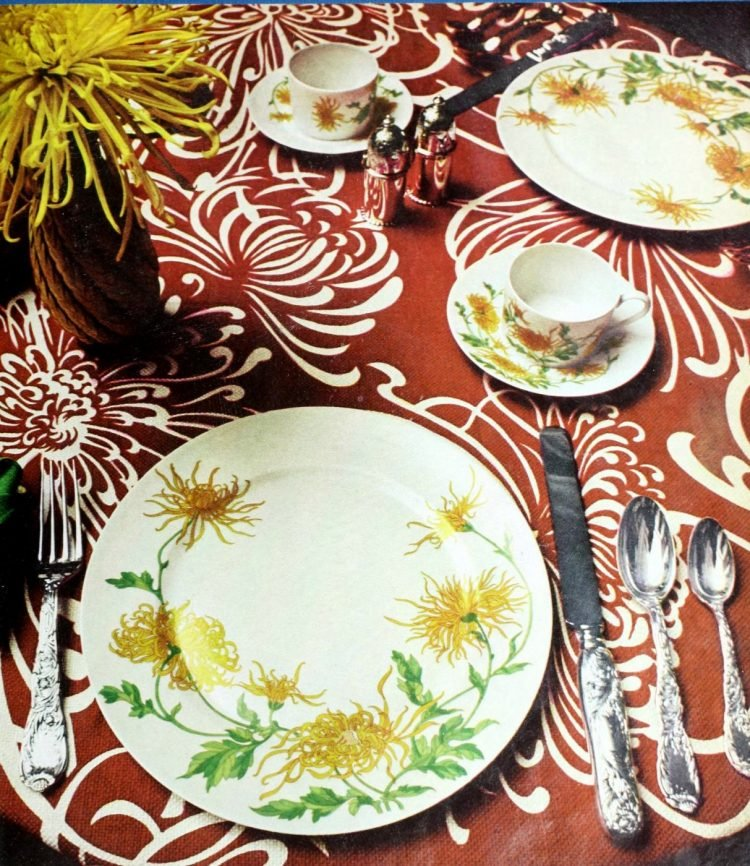 Vintage table setting ideas from the 70s - 1975 (3)