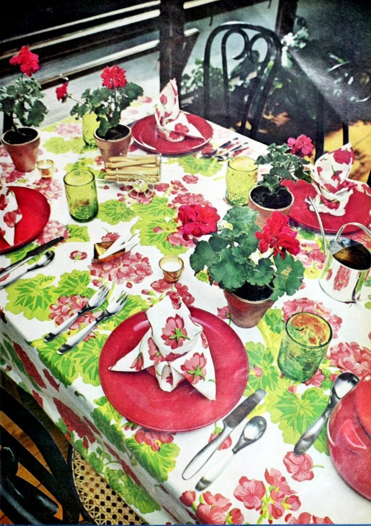 Vintage table setting ideas from the 70s - 1975 (7)