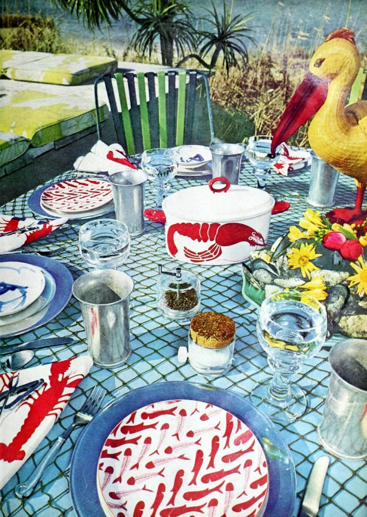 Vintage table setting ideas from the 70s - 1975 (9)