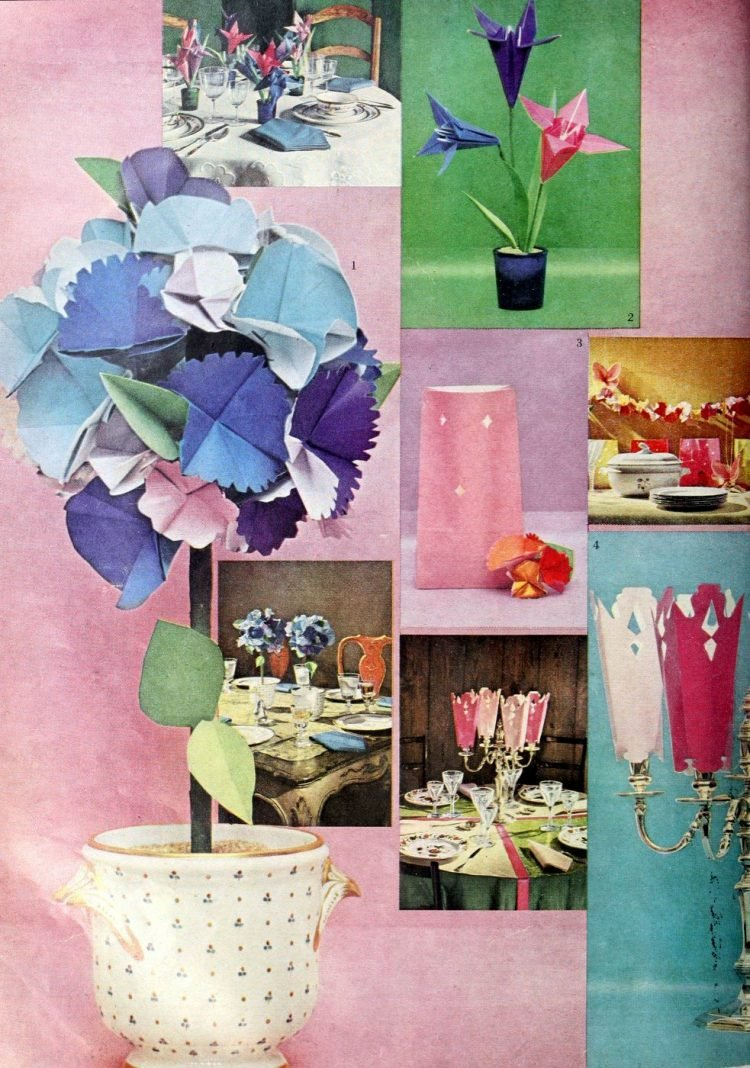 Vintage tablesetting ideas from 1960 (5)