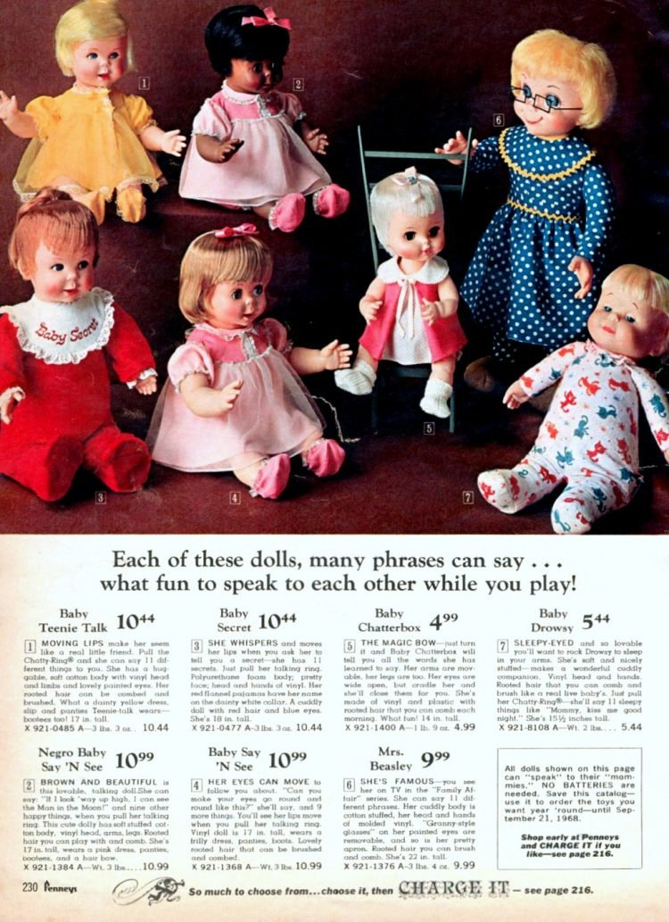 Vintage talking dolls from 1967