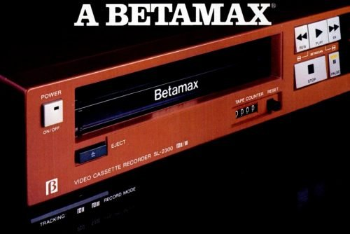 Vintage tech - 1984 Sony Betamax VCR