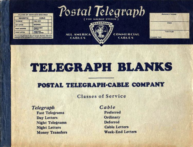 Vintage telegram blanks from the 1930s (2)
