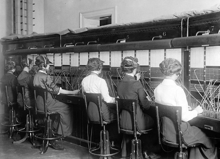 Vintage telephone operators