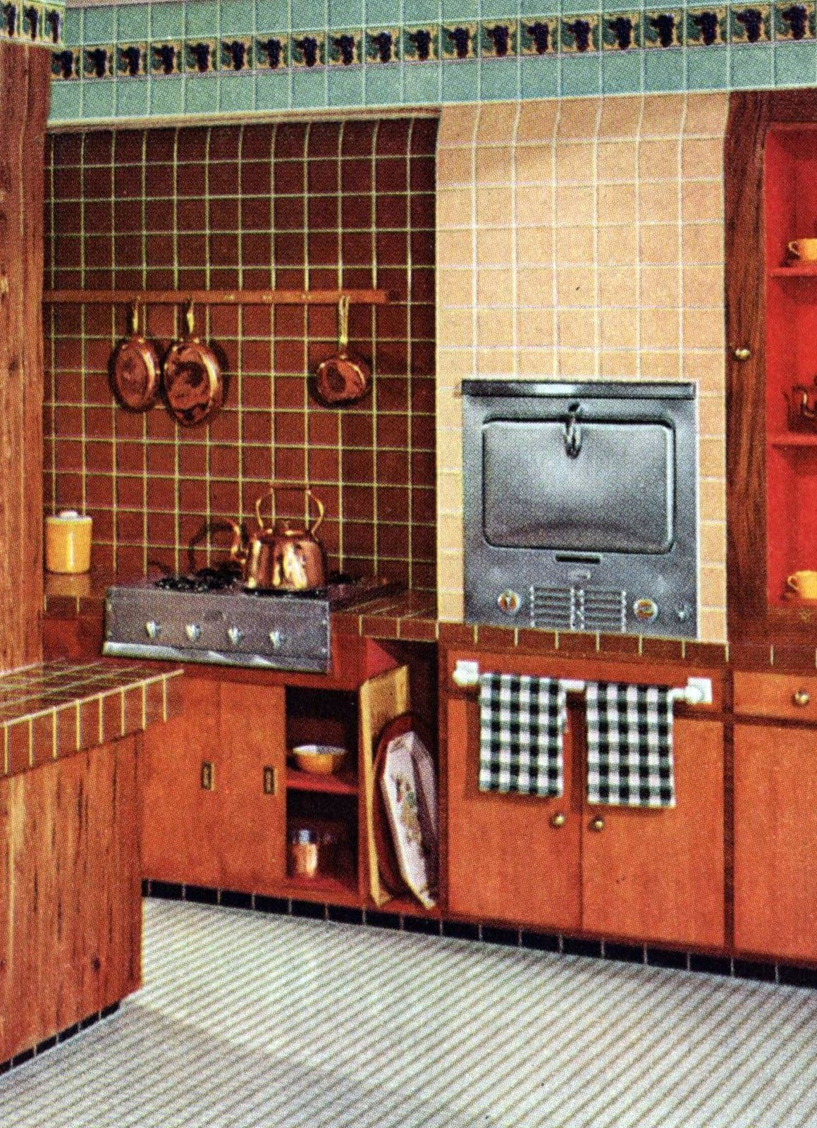 Vintage tile design ideas for your kitchen from the 1950s