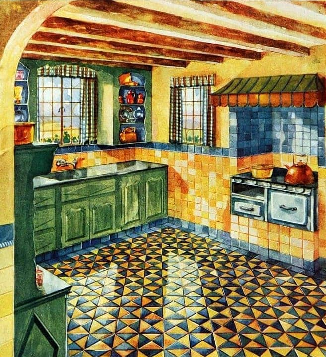 Vintage tile ideas for home decor from the '20s (10)