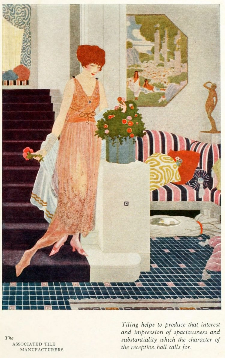 Vintage woman at home in the '20s