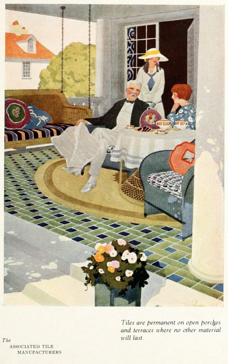 Vintage tile ideas for home decor from the '20s (5)