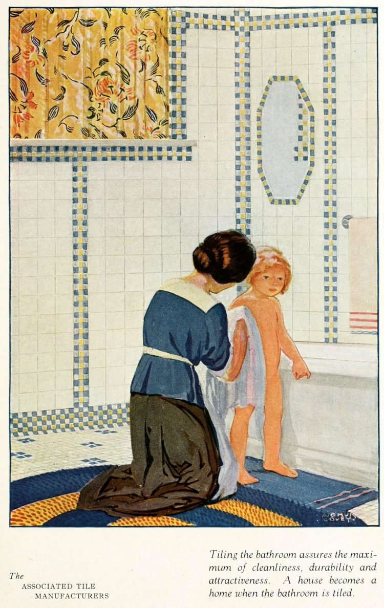 Vintage tile ideas for home decor from the '20s (8)