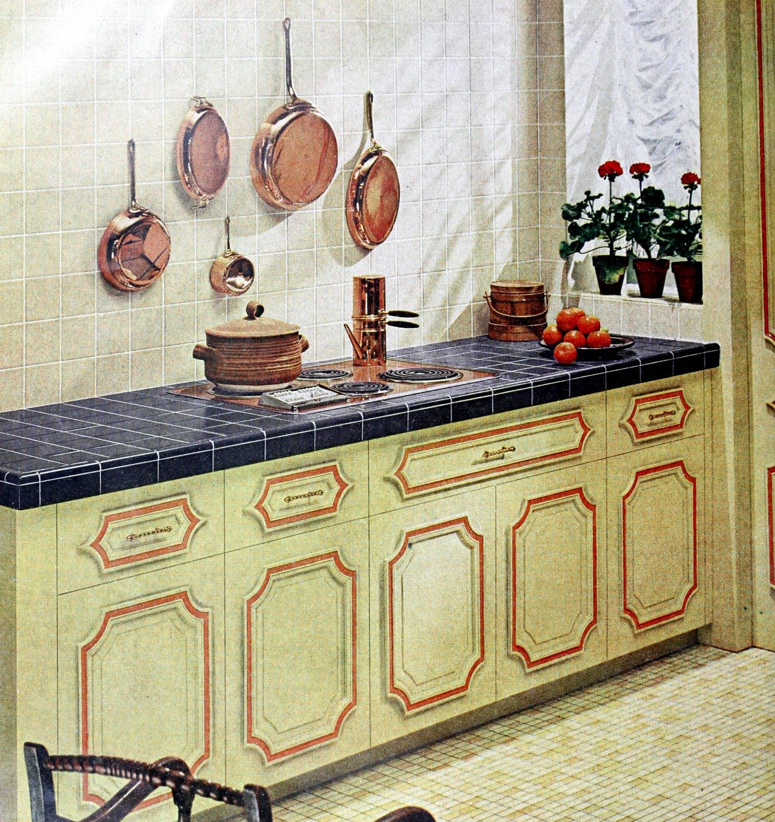 Vintage tile in a kitchen from the 1960s
