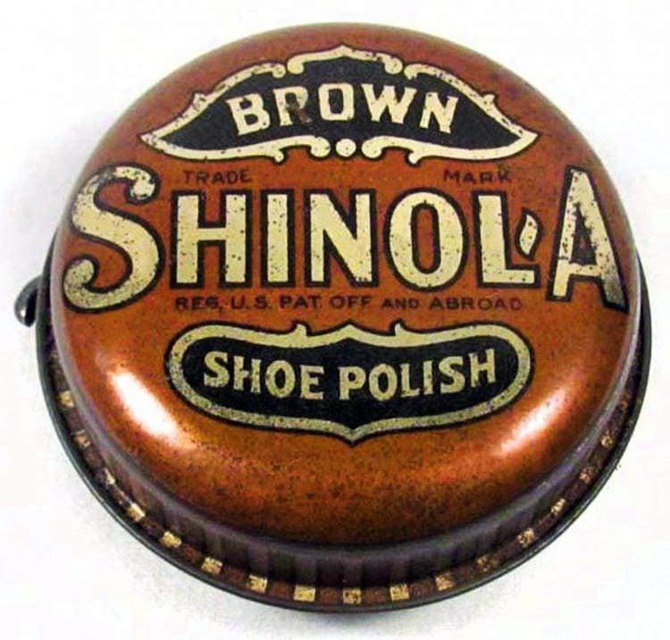 Vintage tin of Shinola shoe polish