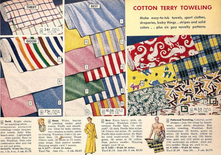 Vintage towels from the 1950s - Sears catalog (1)