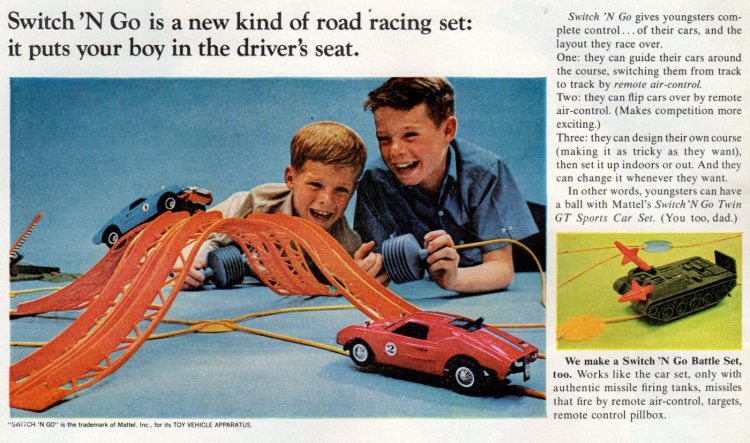 Vintage toys - Switch N Go road racing set from 1966