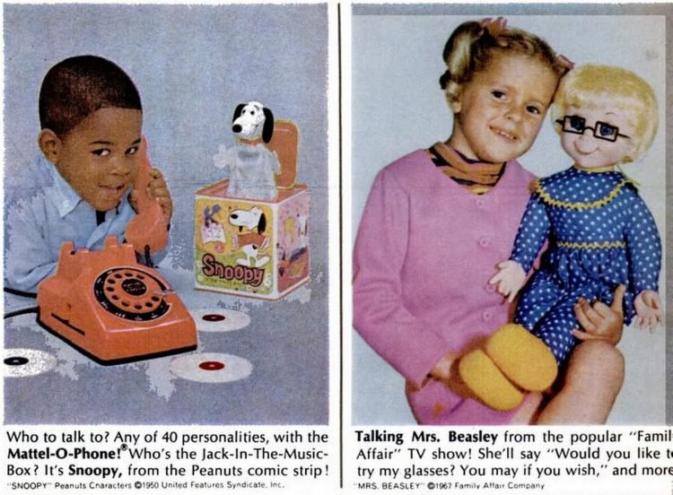 Vintage toys from November 1967 - Mattel (5)