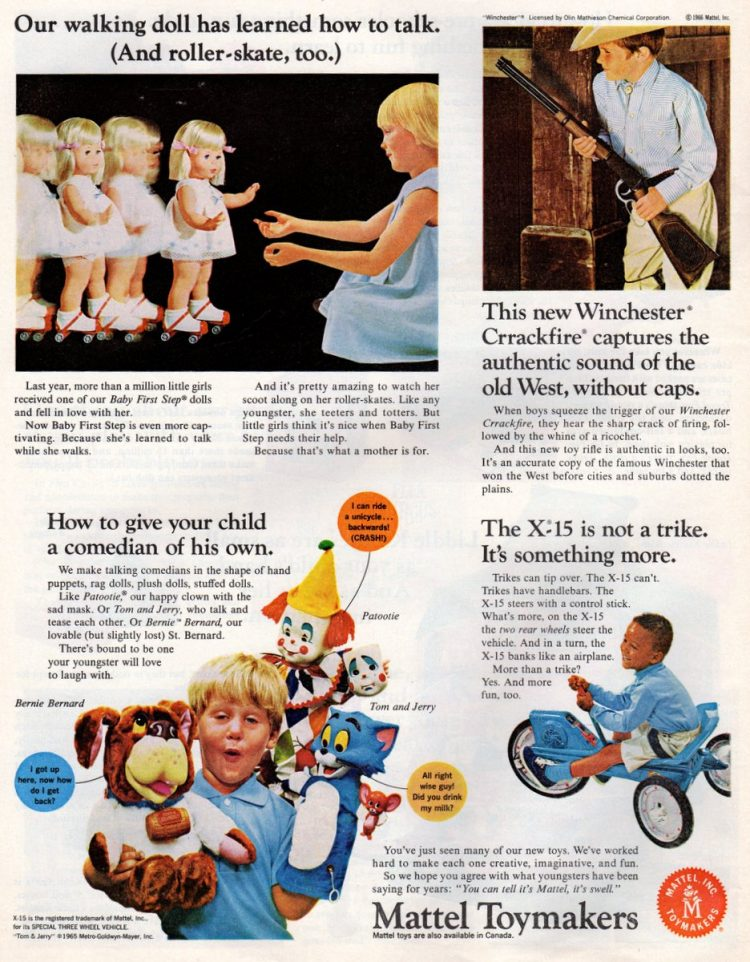 Vintage toys from the 1960s - Mattel Christmas gifts (2)