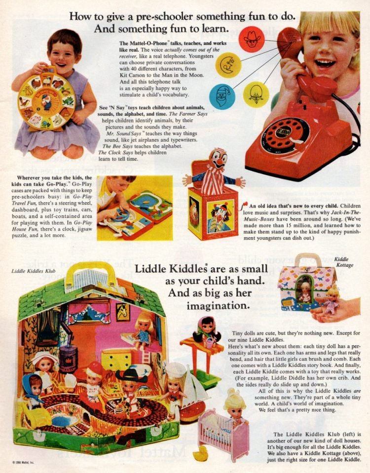 Vintage toys from the 1960s - Mattel Christmas gifts (3)