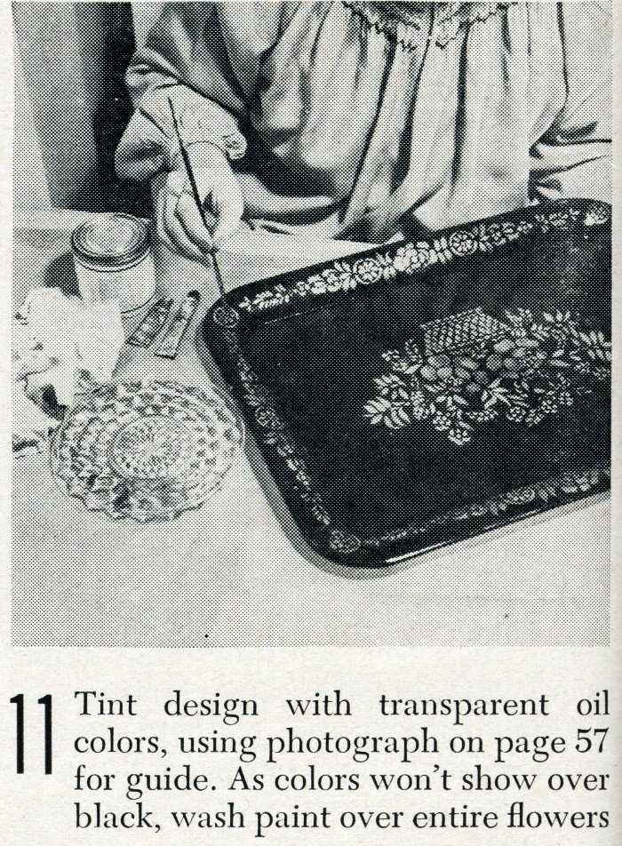 Vintage tray art craft project how-to step 11