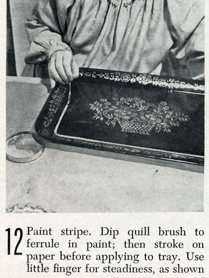 Vintage tray art craft project how-to step 12