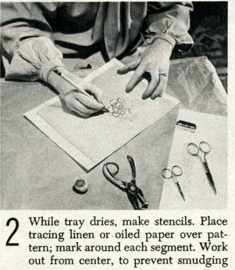 Vintage tray art craft project how-to step 2