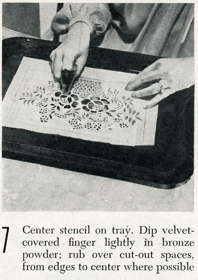 Vintage tray art craft project how-to step 7