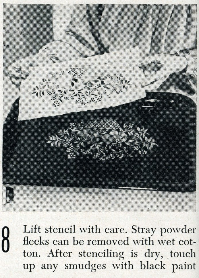 Vintage tray art craft project how-to step 8