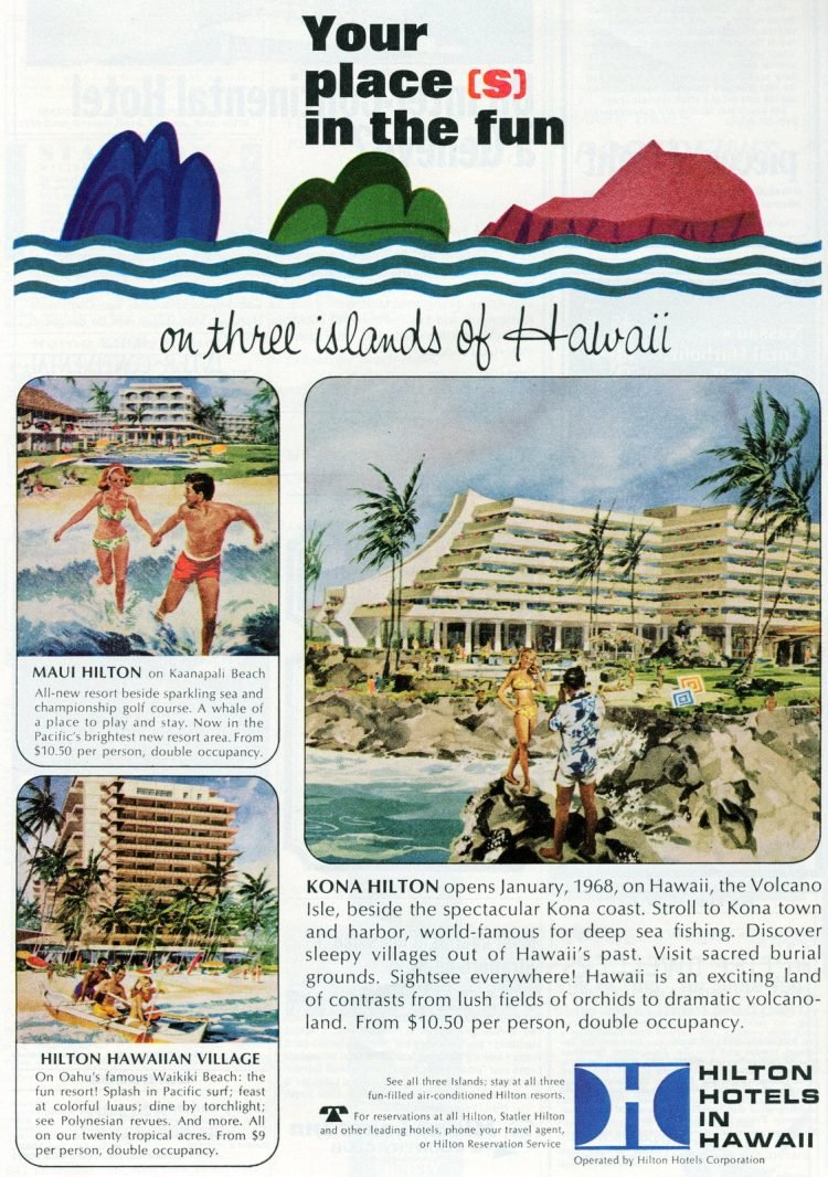 Vintage vacation travel to Hawaii in the sixties (1)
