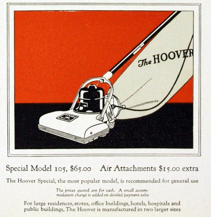 Vintage vacuum cleaners history - Hoover models from 1922 (1)