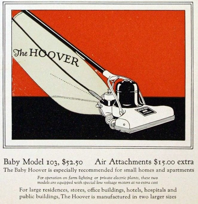 Vintage vacuum cleaners history - Hoover models from 1922 (2)
