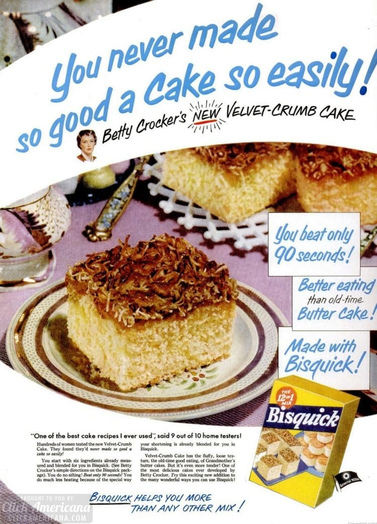 Vintage velvet crumb cake - coffee cake recipe from 1952 (2)