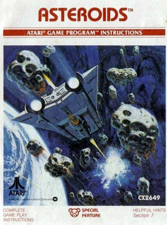 Vintage video games from the 70s - Asteroids