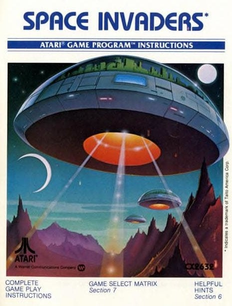 Vintage video games from the 70s - Space Invaders