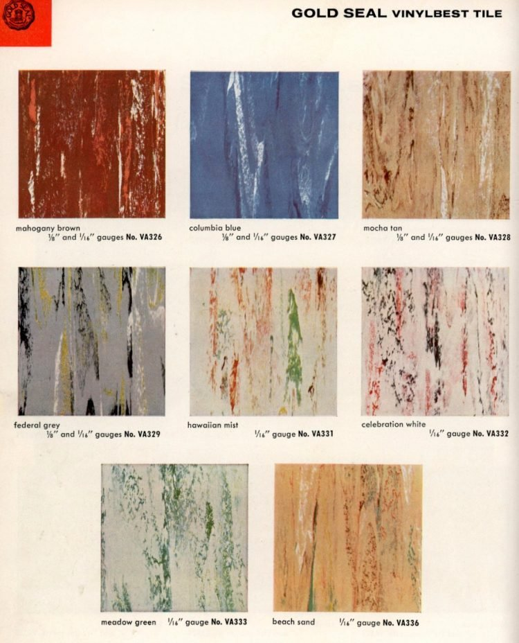 Vintage vinyl flooring catalog from the 1950s (1)