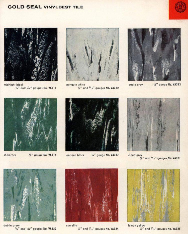 Vintage vinyl flooring catalog from the 1950s (10)