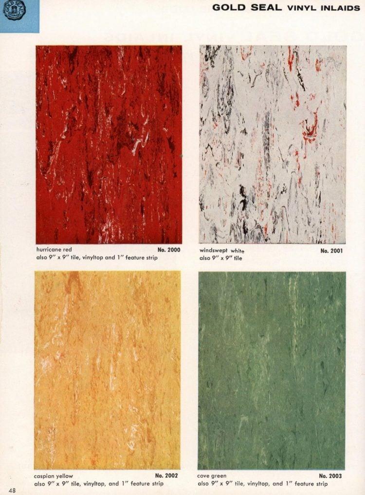Vintage vinyl flooring catalog from the 1950s (2)