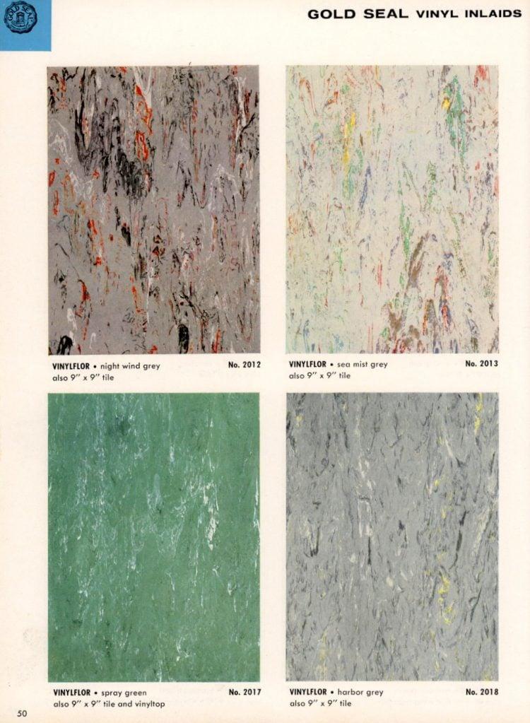 Vintage vinyl flooring catalog from the 1950s (4)