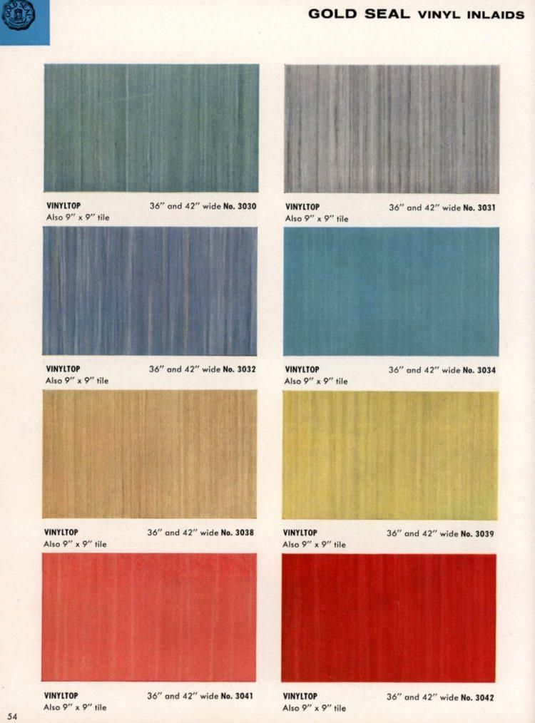 Vintage vinyl flooring catalog from the 1950s (6)