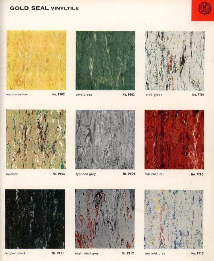 Vintage vinyl flooring catalog from the 1950s (7)