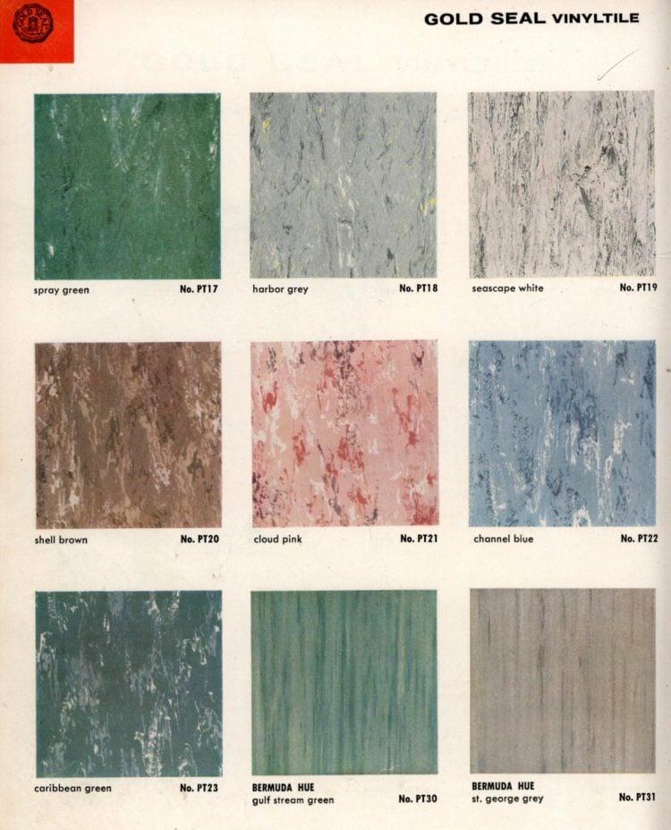 Vintage vinyl flooring catalog from the 1950s (8)