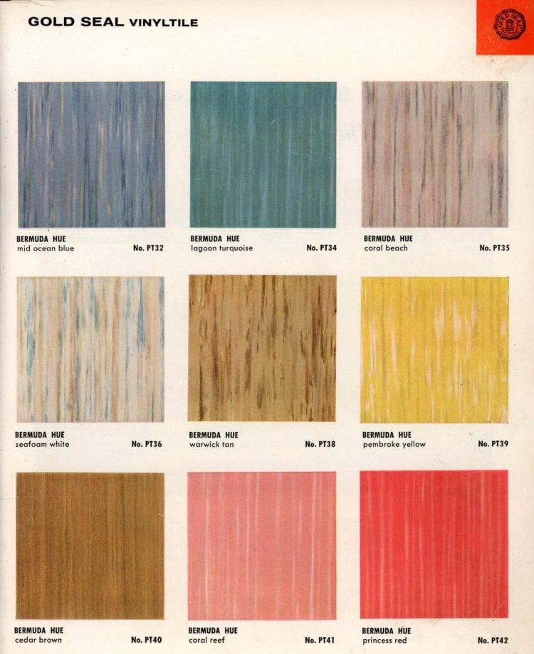 Vintage vinyl flooring catalog from the 1950s (9)