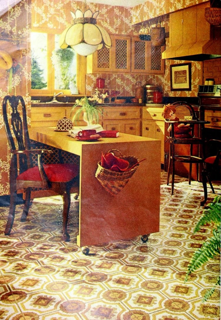 Vintage vinyl kitchen floors from the seventies - From ClickAmericana com (1)