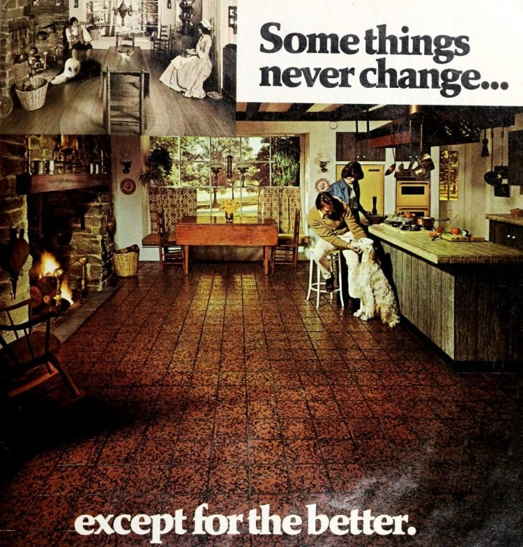 Vintage vinyl kitchen floors from the seventies - From ClickAmericana com (2)