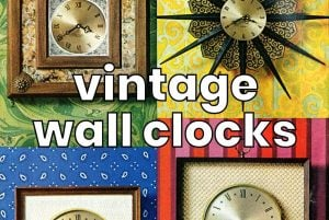 Vintage wall clocks in traditional and mod designs