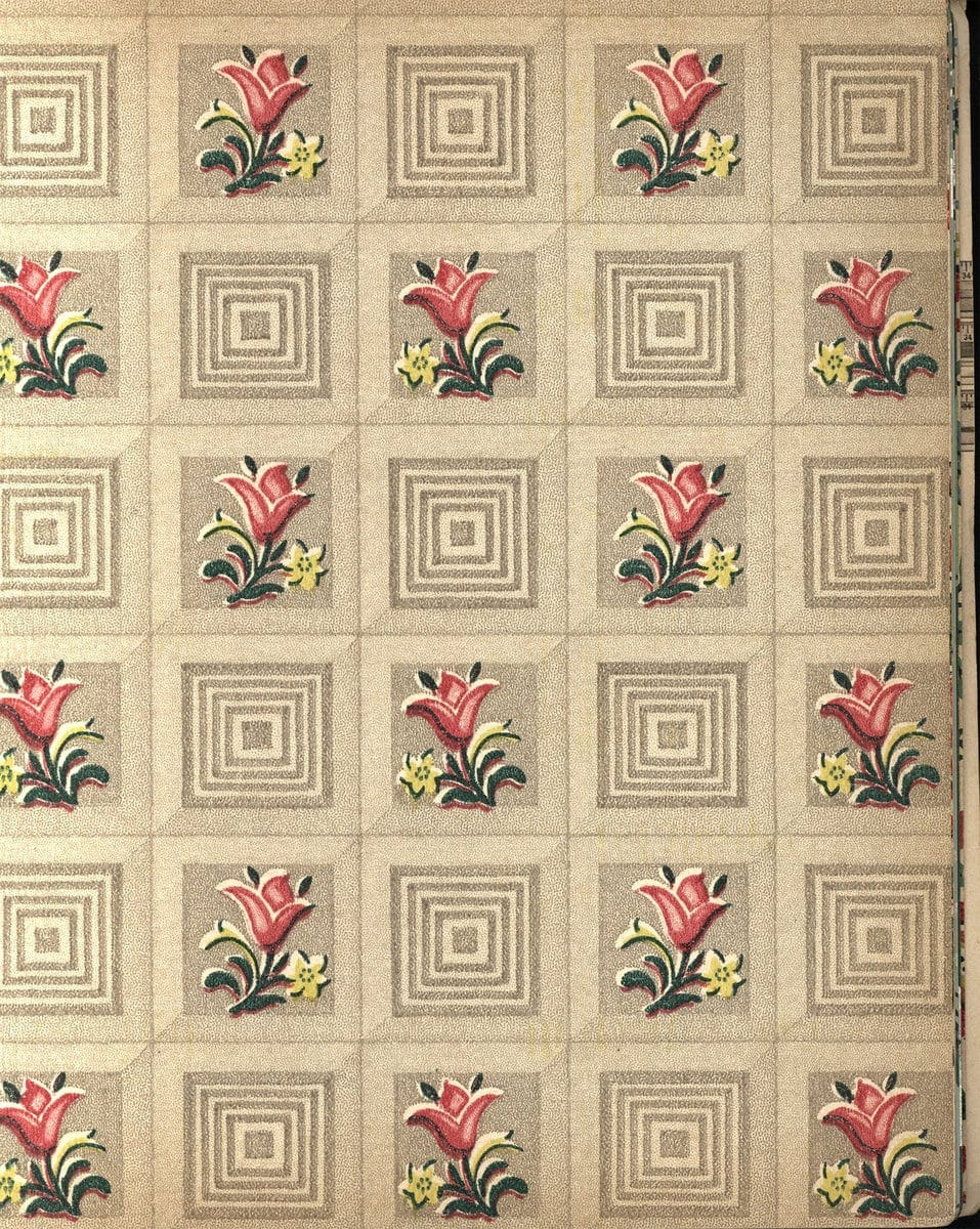 Vintage wallpaper from 1953 by Montgomery Ward (13)