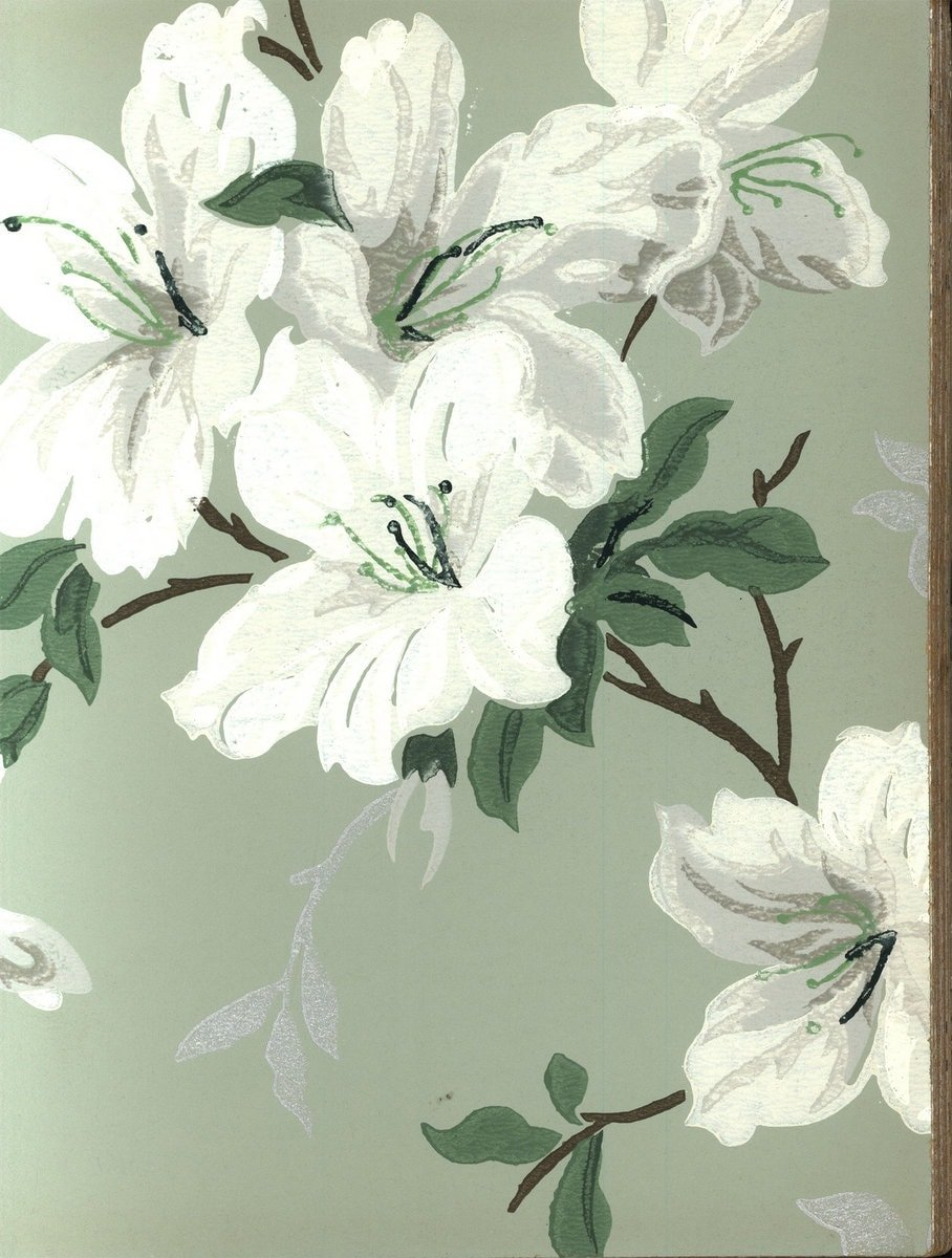 Vintage wallpaper from 1953 by Montgomery Ward (20)