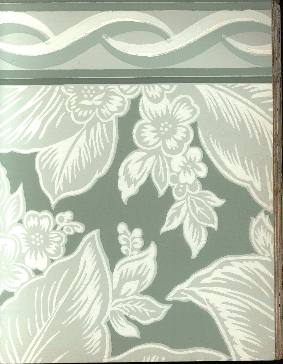 Vintage wallpaper from 1953 by Montgomery Ward (29)