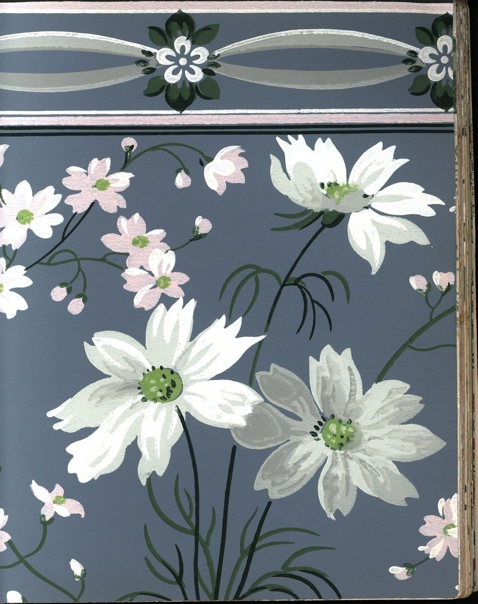 Vintage wallpaper from 1953 by Montgomery Ward (33)