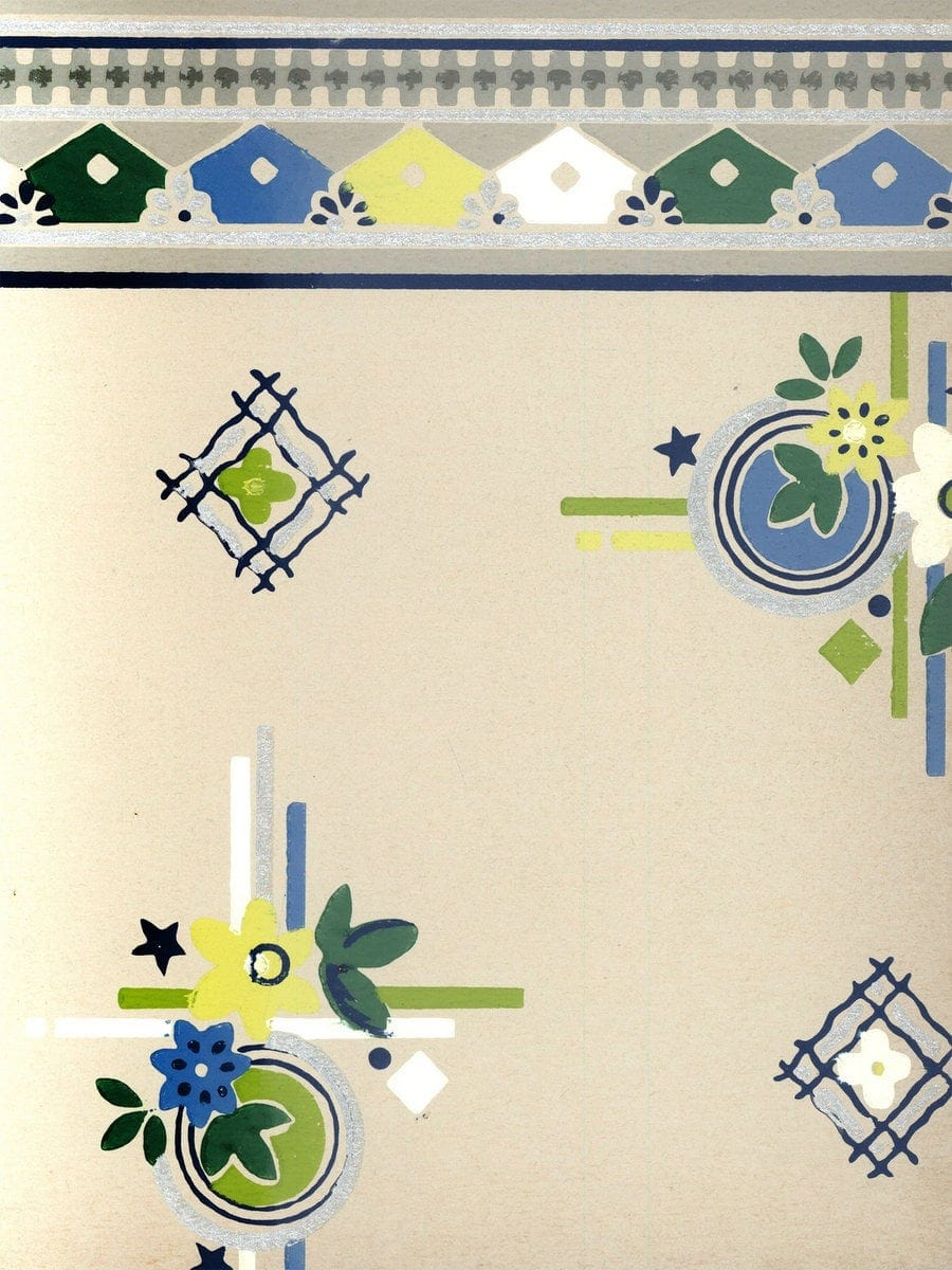 Vintage wallpaper from 1953 by Montgomery Ward (8)