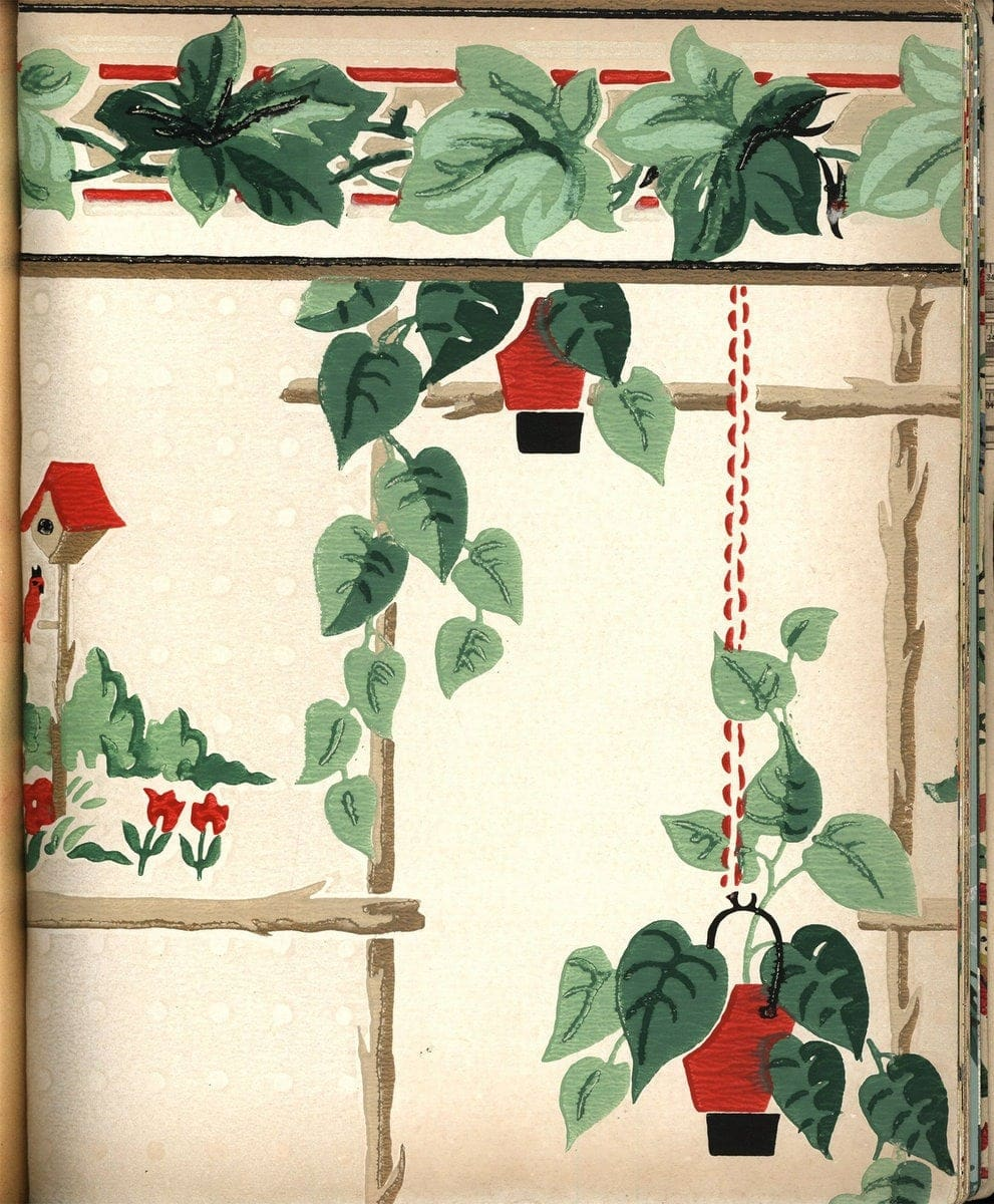 Vintage wallpaper from 1953 by Montgomery Ward (9)