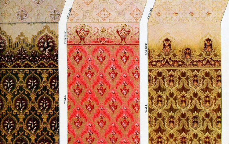 Vintage wallpaper samples from c1910